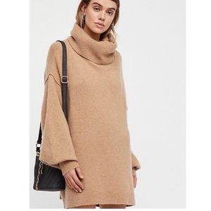 Free People Cashmere cowl neck tunic sweater